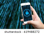 cyber security network concept. ... | Shutterstock . vector #619488272