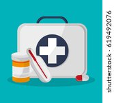medicine related icons | Shutterstock .eps vector #619492076