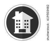house exterior isolated icon | Shutterstock .eps vector #619503482