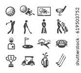 golf icon | Shutterstock .eps vector #619503752
