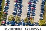 overhead view of big car... | Shutterstock . vector #619509026