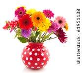 Bouquet Of Dahlia Flowers In...