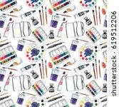 seamless pattern with art...   Shutterstock . vector #619512206
