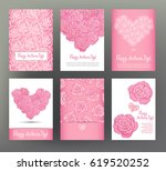 set of 6 postcard or banner for ... | Shutterstock .eps vector #619520252