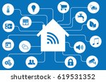 smart home automation and... | Shutterstock .eps vector #619531352