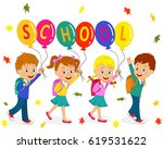 kids  boys and girls are going... | Shutterstock .eps vector #619531622