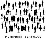 silhouette people men women... | Shutterstock .eps vector #619536092
