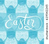 happy easter greeting card. | Shutterstock .eps vector #619542245