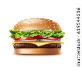 Vector Realistic Hamburger...
