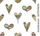 vector hand drawn seamless... | Shutterstock .eps vector #619544696