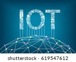 internet of things and iot... | Shutterstock .eps vector #619547612
