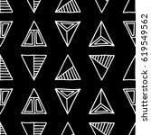 seamless vector pattern. black... | Shutterstock .eps vector #619549562