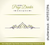new calligraphy page divider... | Shutterstock .eps vector #619551596