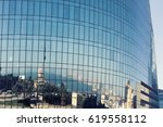 specular facade of office... | Shutterstock . vector #619558112