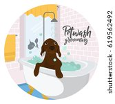 concept dog illustration for... | Shutterstock .eps vector #619562492