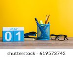 may 1st. day 1 of month ... | Shutterstock . vector #619573742