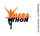 marathon runner event icon...