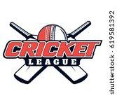 vector logo for cricket game... | Shutterstock .eps vector #619581392