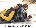 black family on a beach | Shutterstock . vector #61958545