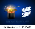 magic show poster design...   Shutterstock .eps vector #619590422
