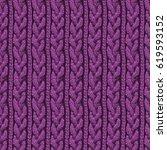 knitting hand made wool... | Shutterstock . vector #619593152