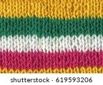 knitting hand made wool... | Shutterstock . vector #619593206