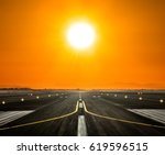 Airport Runway With Modern...