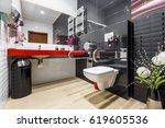 modern  black and white... | Shutterstock . vector #619605536