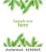 xmas tree branches vector... | Shutterstock .eps vector #61960645