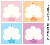 cute cupcake collection design...   Shutterstock .eps vector #619608872