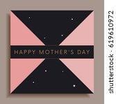 modern happy mother's day... | Shutterstock .eps vector #619610972