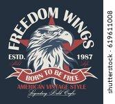 eagle head logo for t shirt ... | Shutterstock .eps vector #619611008