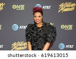 Small photo of Singer Cassandra Cleveland Robertson attends the 32nd Annual STELLAR GOSPEL MUSIC AWARDS on March 25, 2017 in Las Vegas, Nevada at the New Orleans Arena - USA