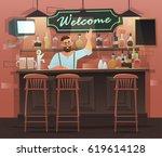 beer bar   restaurant. vector... | Shutterstock .eps vector #619614128