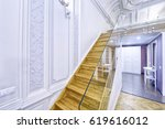 classic interior design duplex... | Shutterstock . vector #619616012