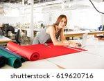 young hispanic fashion designer ... | Shutterstock . vector #619620716