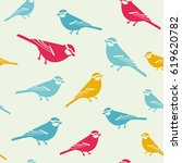 the birds colored background... | Shutterstock .eps vector #619620782