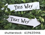 this way and that way signs | Shutterstock . vector #619635446
