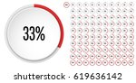 set of circle percentage... | Shutterstock .eps vector #619636142