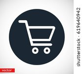 shopping cart icon  flat design ... | Shutterstock .eps vector #619640942