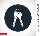 keys icon vector  flat design... | Shutterstock .eps vector #619647662