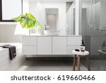 luxury white family bathroom... | Shutterstock . vector #619660466