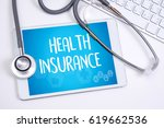 health insurance assurance... | Shutterstock . vector #619662536