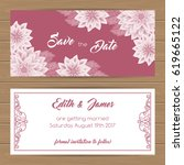 save the date card or wedding...   Shutterstock .eps vector #619665122
