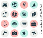 sun icons set. collection of... | Shutterstock .eps vector #619665362