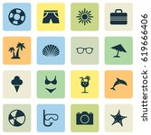 hot icons set. collection of... | Shutterstock .eps vector #619666406