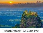 mt. popa or mount popa home of... | Shutterstock . vector #619685192