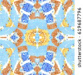 mosaic colorful pattern for... | Shutterstock . vector #619687796