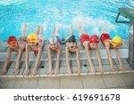 happy children kids group at...   Shutterstock . vector #619691678