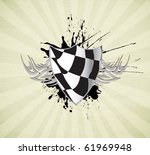 racing sign | Shutterstock .eps vector #61969948